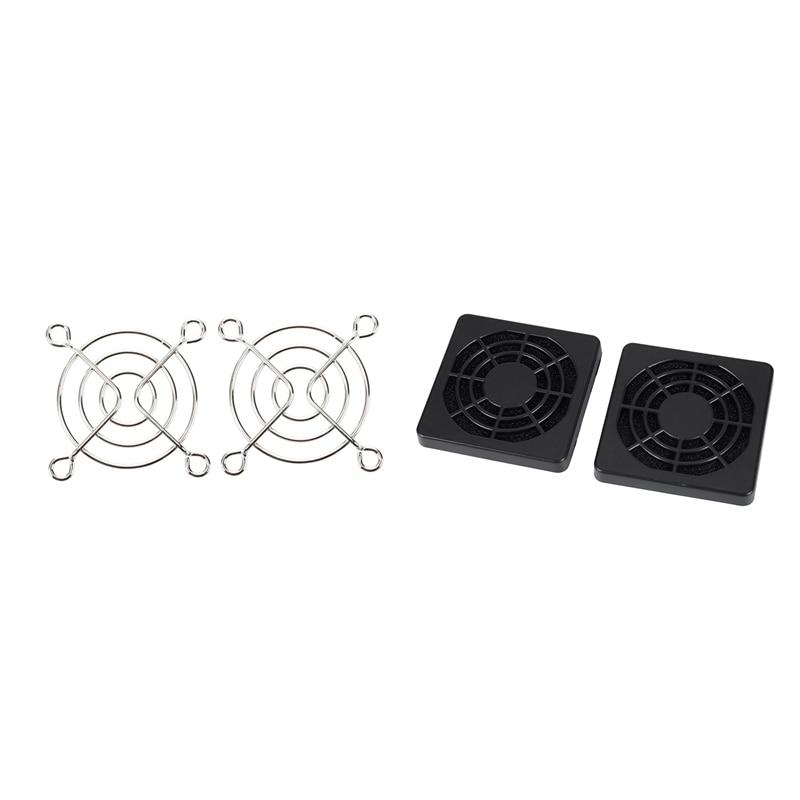 4 Pcs Dustproof Dust Filter Guard Grill Cover For 50mm PC Case Fan