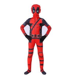 Image 3 - Deadpool Deadpool סרבל ליל כל הקדושים תלבושות ילדי Deadpool Cosplay תלבושות למבוגרים סט