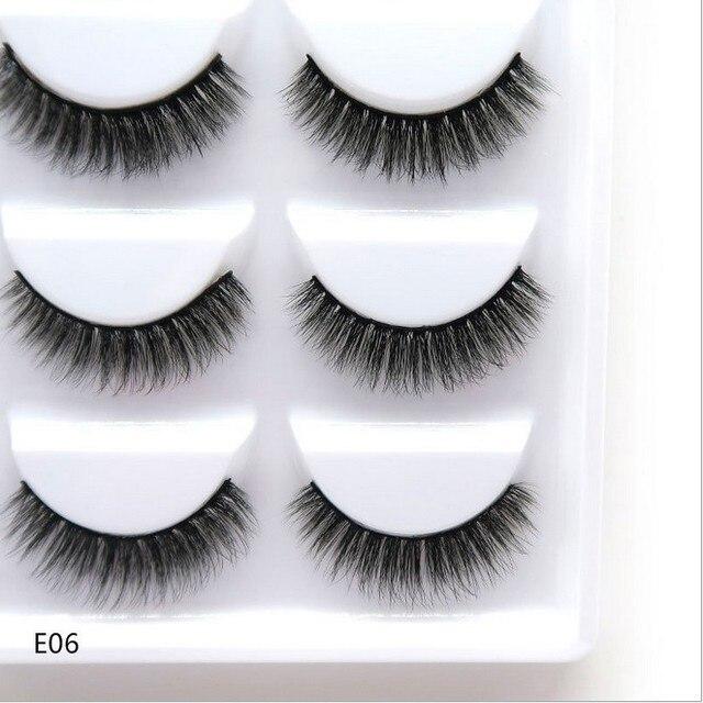 5 Pairs 3D Faux Mink Hair False Eyelashes Natural Long Eye Lashes Wispy Makeup Beauty Extension Tools 3