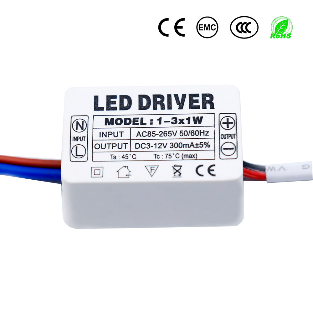 <font><b>LED</b></font> <font><b>Driver</b></font> 300mA 1-3W 3-5W 4-7W 8-<font><b>12W</b></font> 12-18W 18-25W 25-36W <font><b>LED</b></font> Power Supply Unit 350mA AC90-265V Lighting <font><b>Transformers</b></font> For <font><b>LEDs</b></font> image