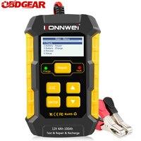 KONNWEI-cargador de batería de coche KW510, probador de batería de 12V, análisis de datos, recargadores, herramientas de reparación para sistema de arranque automático/carga