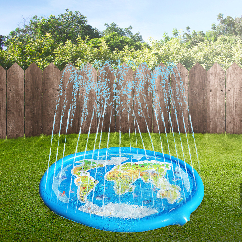 Sports Toys Play Games Mat With Friend Summer Map Inflatable Water Spray Mat Kids Lawn Play Sprinkler Games Pad Toys