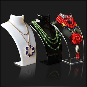 Three Colors 20*13.5*7.5CM Mannequin Necklace Jewelry Pendant Display Stand Holder Show Decorate Jewelry Display Shelf
