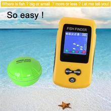 New Colorful Wireless Fish Finder Sonar Sensor Transducer Depth Echo Sounder Recharged Battery Fish Finder