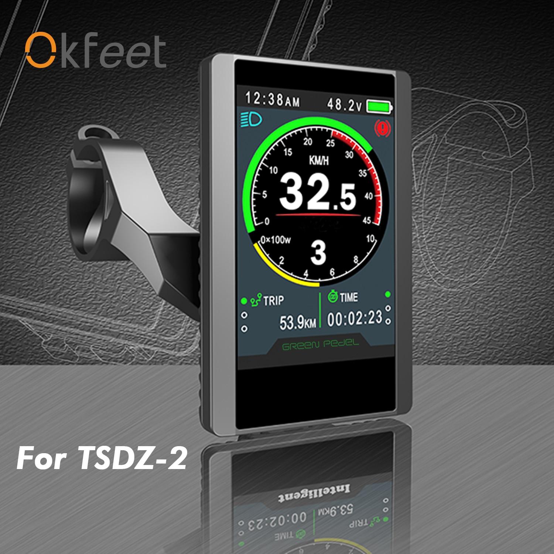 Okfeet Tongsheng TSDZ 2 Mid Drive Motor LCD Display 850C Colour Screen Display For Electric E Bike Bicycle Conversion Kit