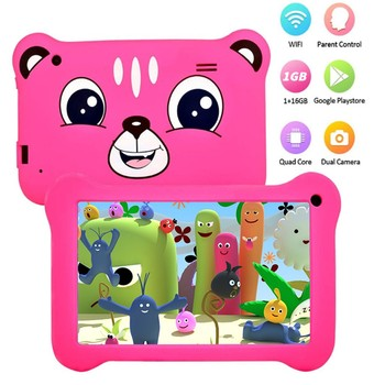 Q78children's Tablet Android Quad-core Learning Tutor Ips Screen Cartoon Powerful Educational Tablet For Children Kids Best Gift 1