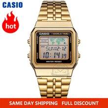 Casio watch gold watch men set brand luxury LED digital Waterproof Quartz men watch Sport military Wrist Watch relogio masculino цена 2017