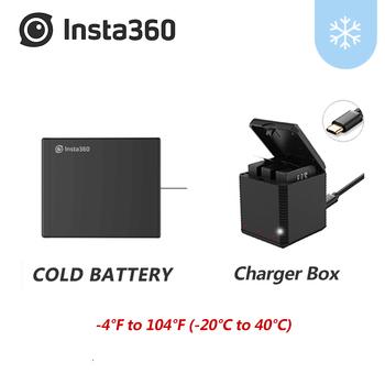 Zimna oryginalna bateria do Insta360 ONE X 1200mAh zestawy baterii jedna X ładowarka micro usb przytulić baterię w magazynie Insta 360 tanie i dobre opinie 360° Video Camera Accessories Kits