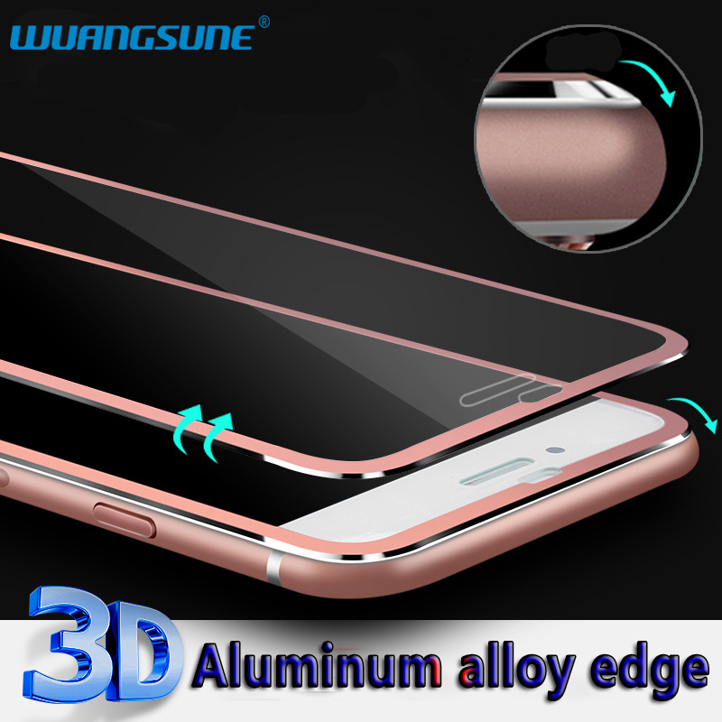 3D Full Coverage for iPhone 7 8 Titanium Alloy Tempered Glass for iphone 7 8plus phone Screen Protector film image