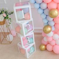 Цифры Макарон воздушные шары арки воздушные шары ко дню рождения 1 2 3 4 1 день рождения с днем рождения Декор дети взрослые балон конфетти бал...