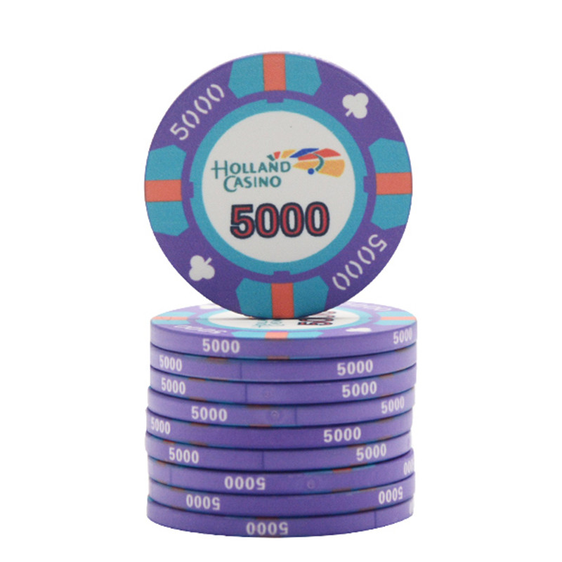 10pc/lot Ceramic Poker Chips 10g Set Clay Casino Coins 39mm Coin Poker Chips Entertainment Dollar Coins