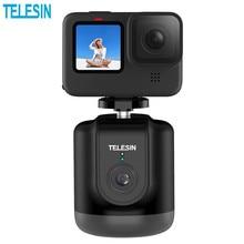 TELESIN akıllı Selfie çekim Gimbal 360 otomatik yüz izleme Gopro Hero 9/8/7/6/5 cep telefonu kamera Vlog kayıt Youtube