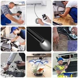 Image 5 - WIFI kamera endoskopowa HD 1200P 1 10M Mini wodoodporny drut twardy bezprzewodowy 8mm 6 LED kamera boroskopu dla Android PC IOS endoskop