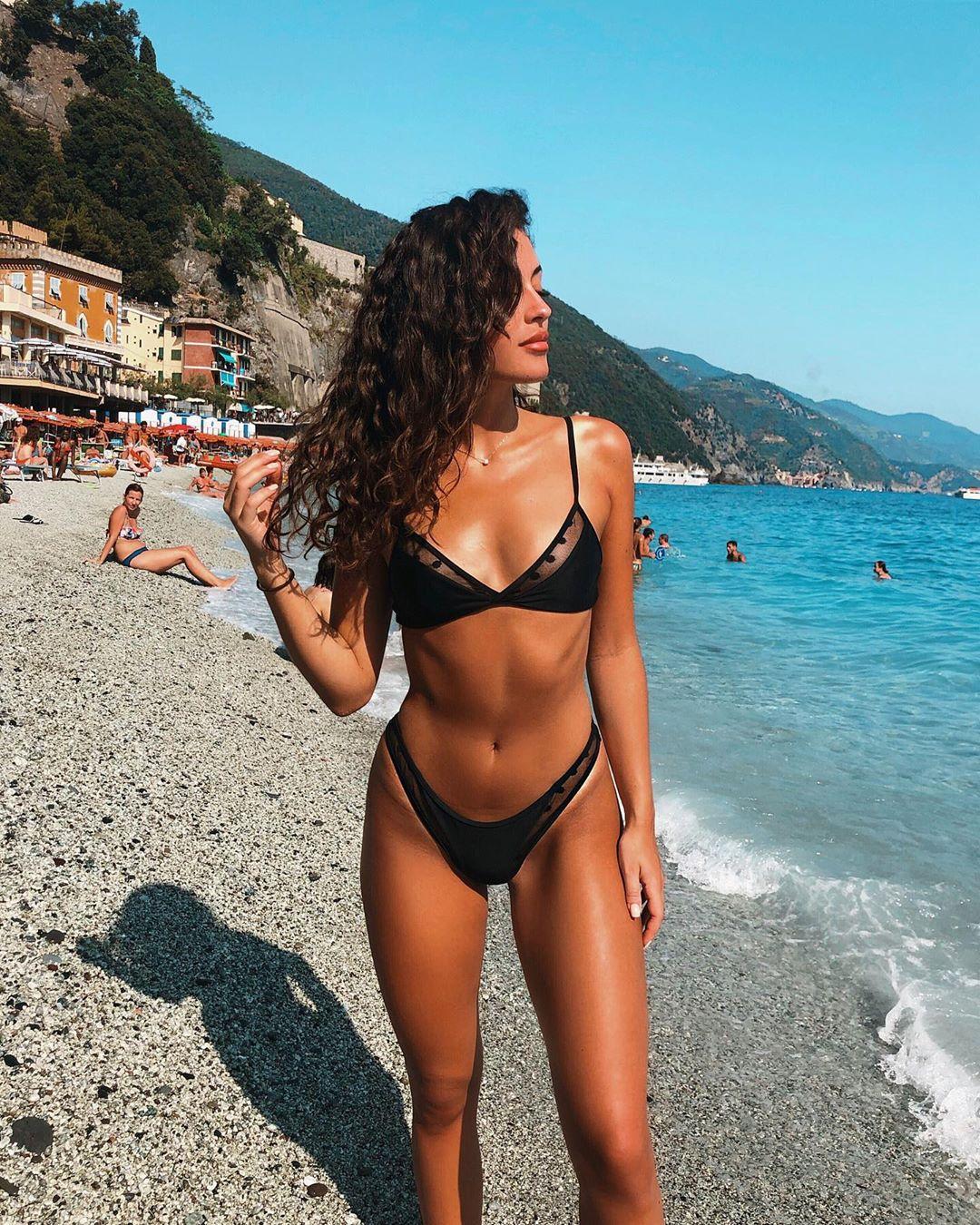 Swimwear Women Sexy Black Mesh Bikini 2020 Female Swimsuit Push Up Biquini Bathing Suit Thong Brazilian Bikinis Set Swim Wear 2