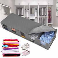 Bolsa de almacenamiento interior plegable, cajas de almacenamiento grandes debajo de la cama, organización de armario, bolsas de almacenamiento de ropa transpirables, 1/2 Uds.