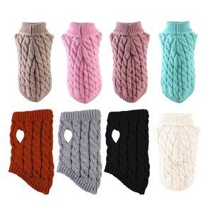 1 шт. зимний свитер для собак Одежда для маленьких собак свитер для щенков для домашних животных вязаная крючком одежда Рождественский свитер для собак украшение