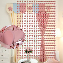 2M Heart Foil Door Curtain Birthday Party Decorations Adult Sequin Backdrop Window Screen Valentine Day Anniversary Accessories valentine s day heart angel printed shower curtain