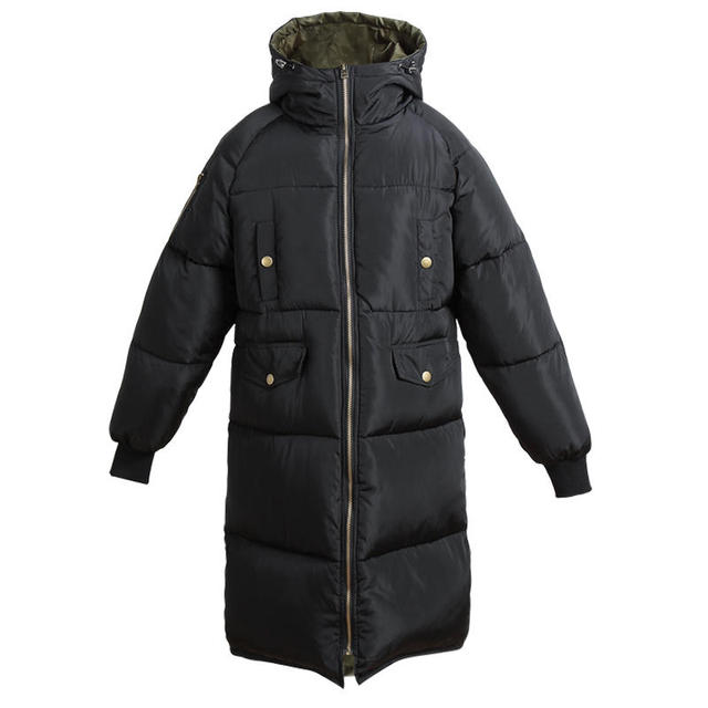 Automne hiver veste femmes Parka chaud épais Long duvet coton manteau femme lâche Oversize à capuche femmes hiver manteau survêtement Q1933 6