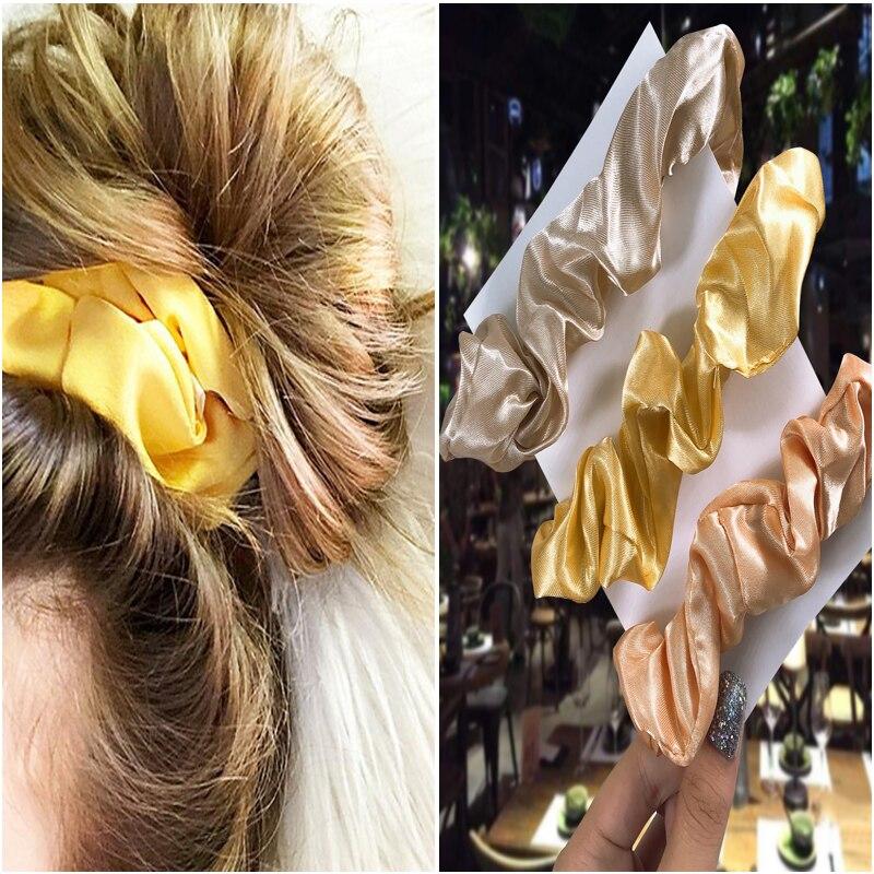 3PCS/Set Women Elastic Hair Bands For Girl Hair Rope Headband Hair Scrunchies Ponytail Solid Hair Accessories