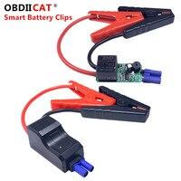 Cables de refuerzo inteligentes para coche, accesorios de abrazadera de batería, Clips rojos y negros para arrancador de batería de coche