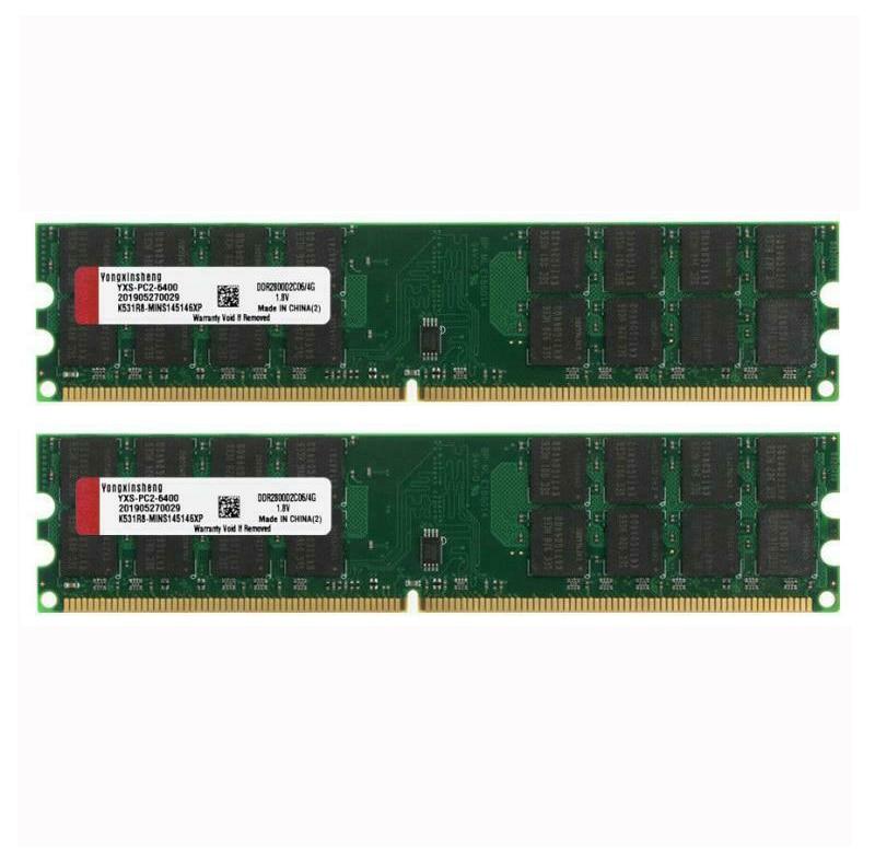 8 Гб комплект 2X 4 Гб PC2-6400 DDR2-800MHZ 240pin настольных компьютеров AMD Оперативная память 1,8 V SD Оперативная Память только для AMD, а не для INTEL материнска...
