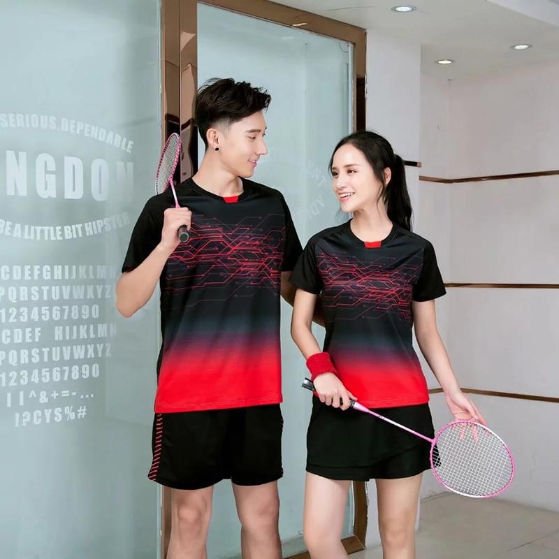 Новинка 2020, футболка для бадминтона для мужчин и женщин, рубашки для гольфа, тенниса, футболка для настольного тенниса, быстросохнущие спортивные шорты, футболка s 9909-0