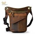 Повседневная модная маленькая сумка-мессенджер на ремне для мужчин, дизайнерский дорожный поясной кошелек из натуральной кожи коричневого...