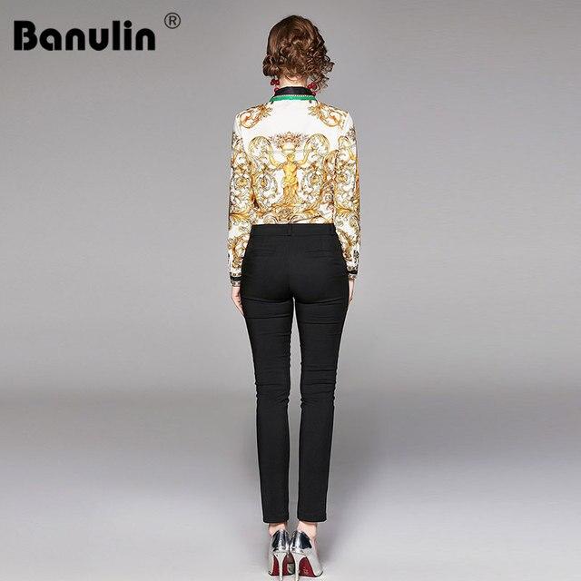 2019 Spring Autumn Design Womans Long-Sleeved Shirt Blouse High Quality Women Printed Office Runway Slim Shirts Tops M-2XL 3