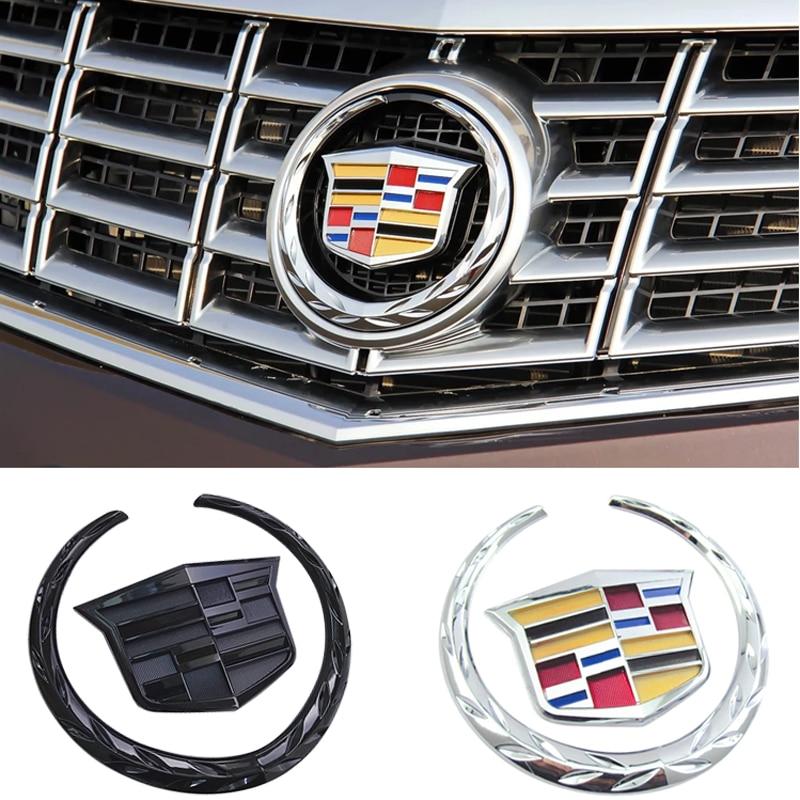 1 Piece Car Logo Emblem For  SRX ATS XTS Rear Trunk Boot Front Head Grille ABS Plastic Chrome 3d Badge Decal Decoration