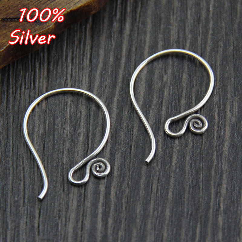 1 Pair High Quality Classic 925 Silver Color French Earring Hook Accessories Settings DIY Jewelry Findings Fittings Wholesale