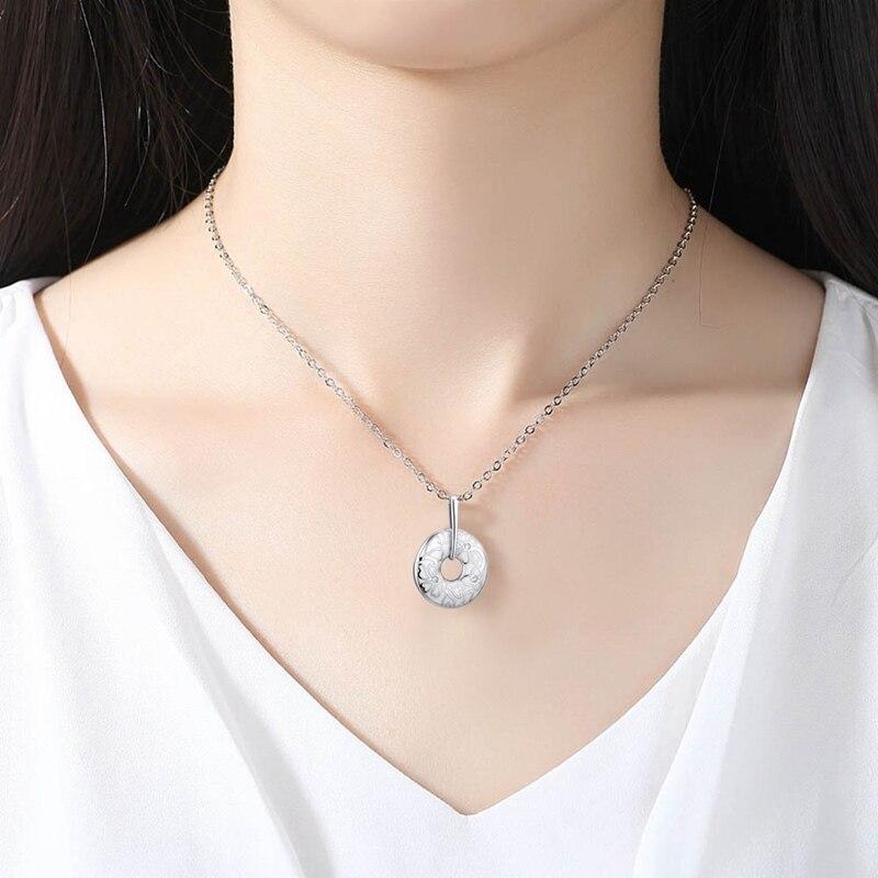 Fashion Jewelry For Women Enamel White Flower CZ Ring Earrings Pendant Necklace