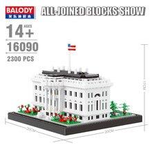 Zhenwei Mini Bricks Landmark Series  White House World Famous Architecture Capitol Congress Big Ben Building Block Set