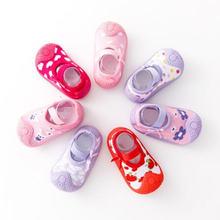 Wholesale girls baby toddler shoes socks non slip newborn children