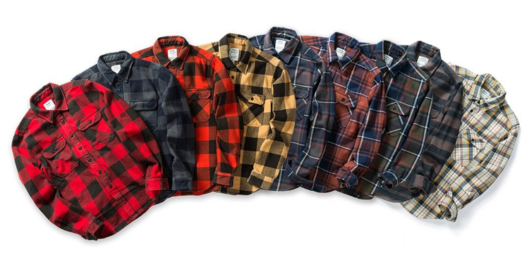 H6b77e339438b4befbad19aa7a51f990b7 100% cotton heavy weight retro vintage classic red black spring autumn winter long sleeve plaid shirt for men women