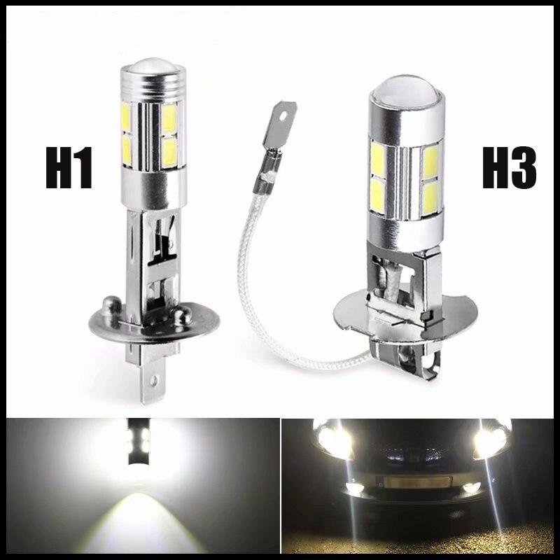 1 шт., автомобильный светильник H3 светодиодный высокое Мощность светодиодный туман светильник дневные ходовые светильник лампочка 10SMD 5630 5730...