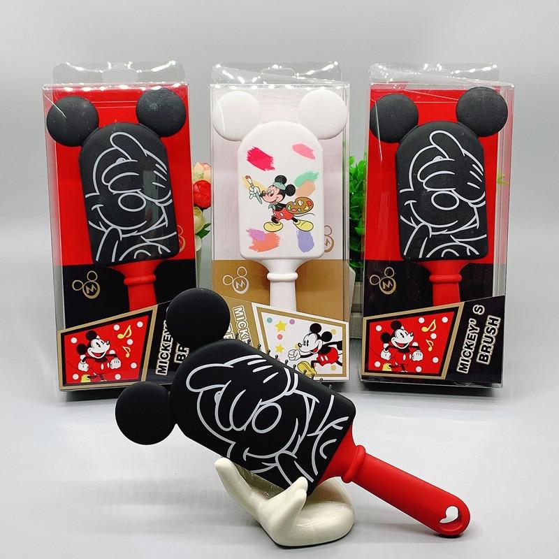 Disney mickey minnie 3d pente congelado aisha princesa maquiagem brinquedo bonito crianças pente meninas do bebê vestir-se brinquedos de aniversário anti-estática