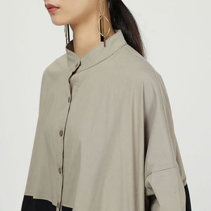 Image 5 - XITAO קפלים להיט צבע Midi שמלת נשים מקורי עצמאי עיצוב יחיד שד אלגנטי טלאי אלת מאוורר שמלת WQR1642