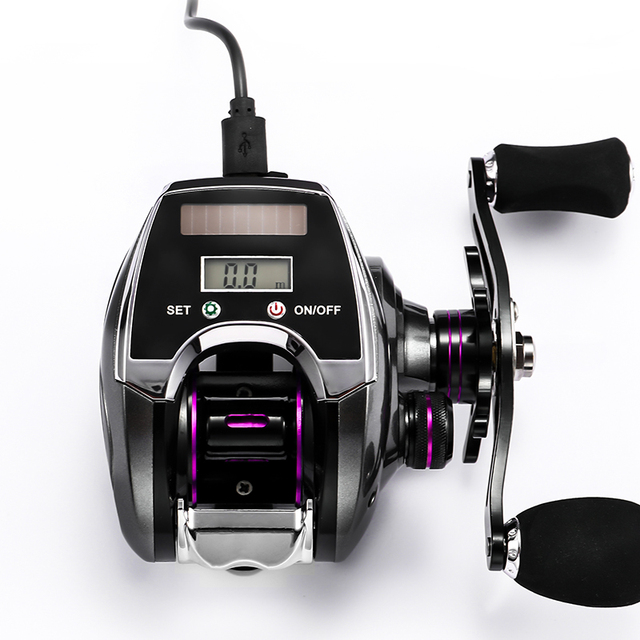 Electronic fishing reels at shop