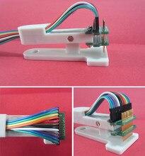 Teste queima dispositivo elétrico 1.27mm suporte de teste pcb clipe pogo pino debug download programa queima espaçamento 3p 4p 5p 6p 7p 8p 9p 10p 11p 12p