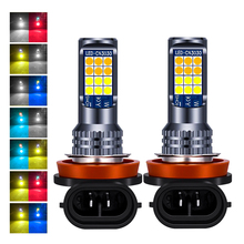 2Pcs H8 H11 LED Bulbs Led 9005 9006 3030 24 SMD Auto Front Fog Lamp Led Headlight Lamps Bulb H3 H4 H7 LED Fog Light DC 12V