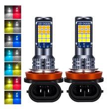 2Pcs H8 H11 Led lampen Led 9005 9006 3030 24 SMD Auto Front Nebel Lampe Led Scheinwerfer Lampen Birne h3 H4 H7 LED Nebel Licht DC 12V