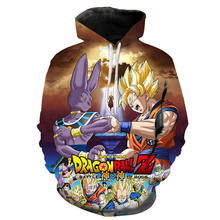 Anime Dragon Ball Z Goku 3D Hoodies Mantel Männer Frauen Kinder Kühlen Sweatshirts Hoodie Pullover Jacke Trainingsanzüge Street Hoody(China)