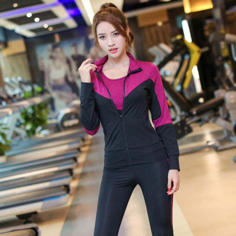 5pcs Women Sports wear Quickly Dry Tracksuit Sweatshirt sweatpant short jacket short Jogger Running Fitness Gym Workout Yoga Set in Yoga Sets from Sports Entertainment