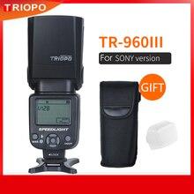 Triopo speedlight flash TR 960 iii 2.4g sem fio terno para sony a850 a450 a500 a560 a77 a65 a33 a35 câmeras genunie