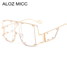 ALOZ MICC High Quality Rimless Women Glasses Frame Fashion Clear Lens Square Eyeglasses Men glasses frame women oculos de grau