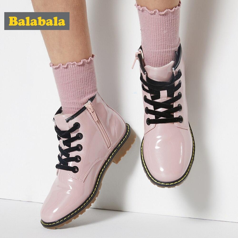 balabala botas criancas inverno pele tornozelo botas 01