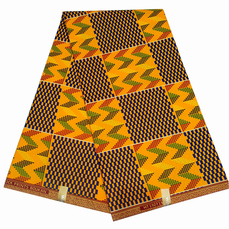 2020 Fashion African Nigeria Anakra Veritable Real Wax Fabric Kitenge Wax Sewing Polyester Material Fabric 6Yards