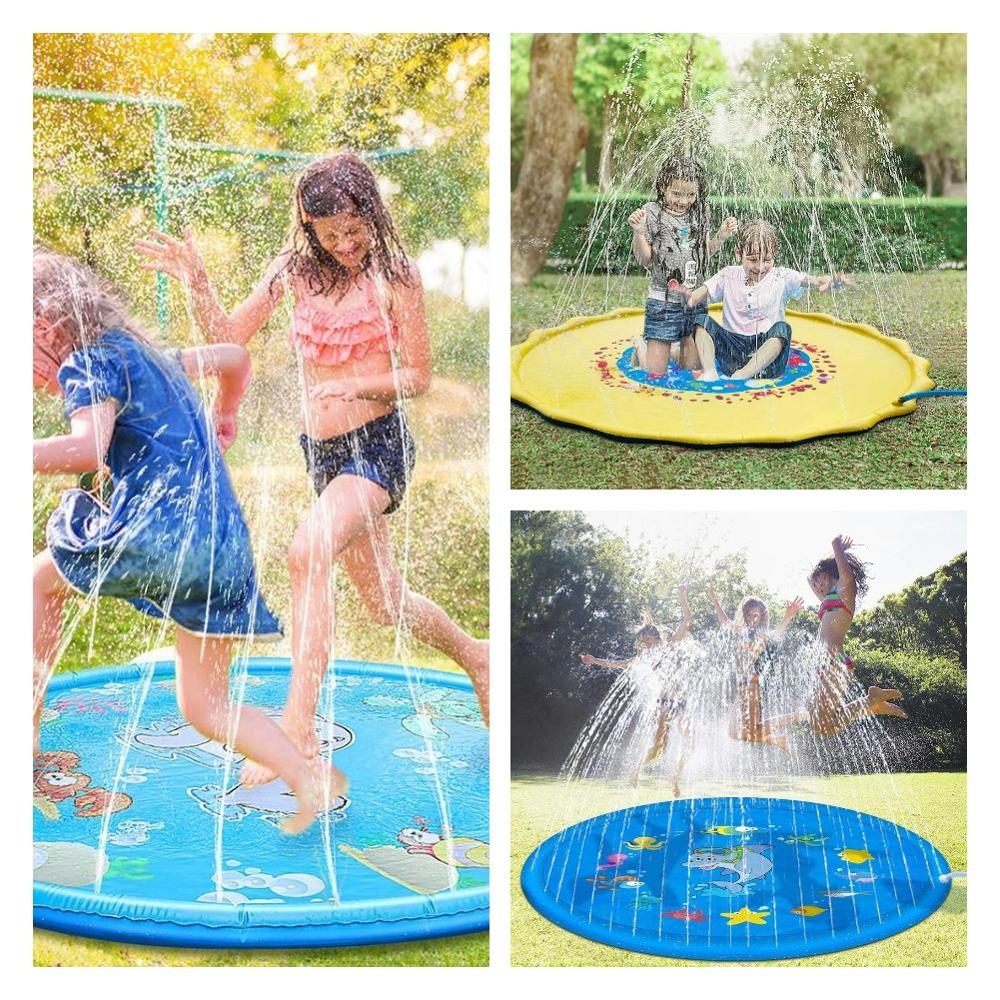 Outdoor Lawn Beach Sea Animal Inflatable Spray Water Games Beach Mat Cushion Toys Kids Play Mats Sprinkler Pad Tub Swimming Pool