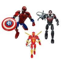 24,5 cm Super Heroes Marvel Avengers Unendlichkeit Krieg Spiderman Bausteine Figuren Für Kid Ziegel Spielzeug