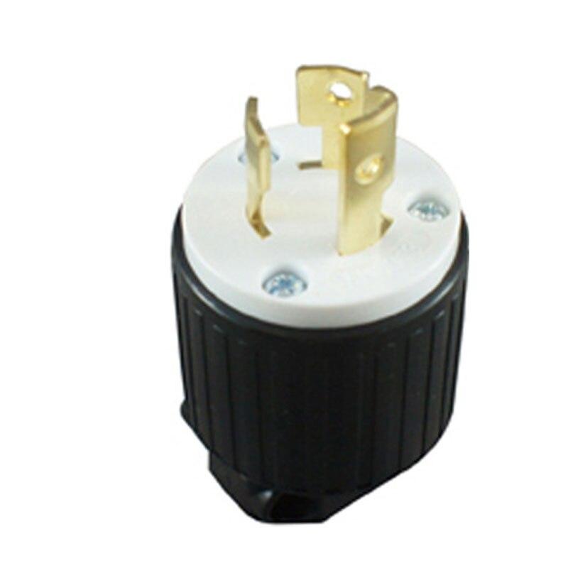 Черный Медь (Национальная ассоциация владельцев электротехнических L7-15P Rewireable US вилка подключения инженерного оборудования зашитный кожук...